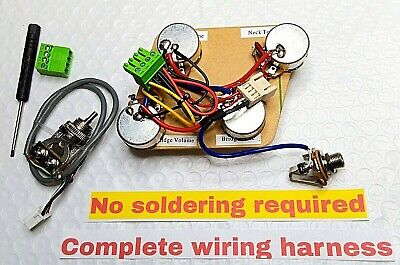 Epiphone Les Paul Wiring Harness - Direct Fit (OEM) Just attach your pickups!