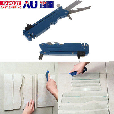 Multifunction Glass Tile Cutter Knife Blade Sharpener Cutting Craft Hand Tool UE