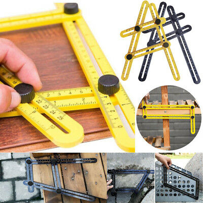 Hot Practical Ultimate Multi-Angle 4-Sided Ruler Template Tool Measuring Tools