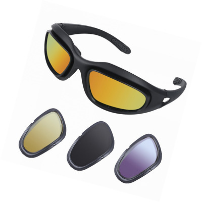 JanPry Polarized Sports Cycling Sunglasses Black Frame with 4 Lenses Kit