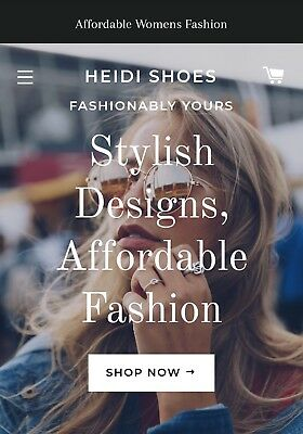 Stunning Fashion Store Website 😎 Ready To Sell Shopify Dropship PLUS DOMAIN🌹