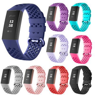 For Fitbit Charge 3 Watch Band Replacement Silicone Breathable Wrist Bracelet PP