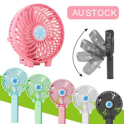 USB Rechargeable Handy Fan Mini Portable Table Handheld Electric Cooling Fan AU