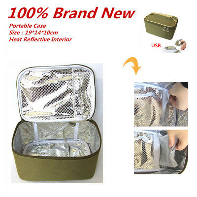 Personal Portable Electric Lunch Box Hot Food Heating Bag Usb Car