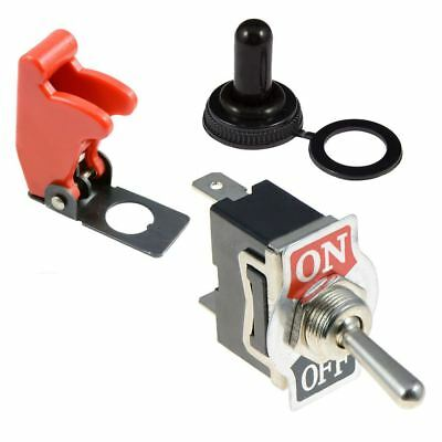 On-Off 2 Position Standard 12mm Toggle Flick Switch SPST + Cover