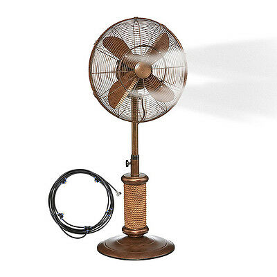 5M Portable Summer Garden Patio Yard Fan Spray Air Cooling Misting System Device