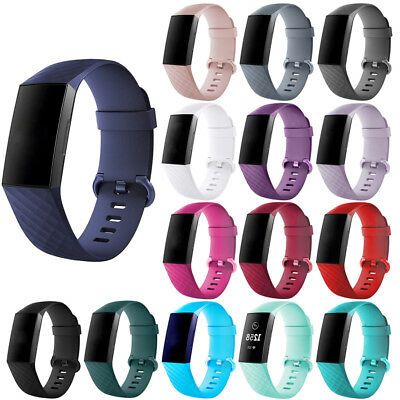 For Fitbit Charge 3 Watch Band Replacement Silicone Diamond Bracelet Wristband K