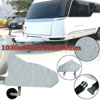 103cm Caravan Hitch Cover Grey Trailer Tow Ball Coupling Lock Cover Waterproof