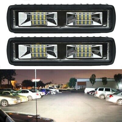 2x Fog Light 48W 12V 16LED Car Work Bar Beam Lamp For SUV Off-Road Universal