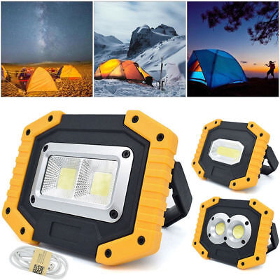 30W LED COB Work Light USB Rechargeable Outdoor Portable Camping Flashlight Lamp