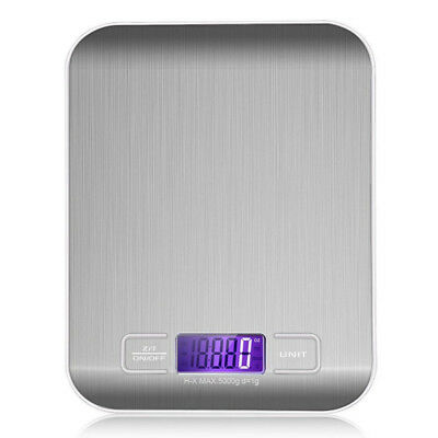 5/10kg Stainless Steel Digital Electronic Kitchen Cooking Food Weighing Scales