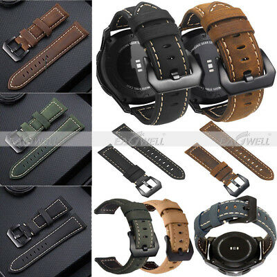 Genuine Leather Watch Band Strap Replacement For Samsung Galaxy Watch 42 46mm