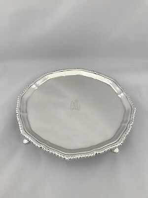 Antique Silver Crested Drinks Tray 1919 London  Heavy