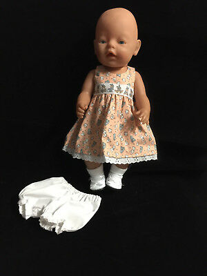 """Doll Clothes To Fit 17"""" Baby Born  Dress~Undies / Dress 7"""
