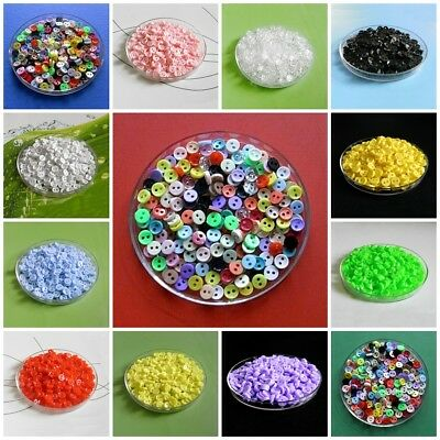 200 Wholesale Lot Tiny Mini Micro Figures Doll Wear Craft Sew On Buttons 6mm