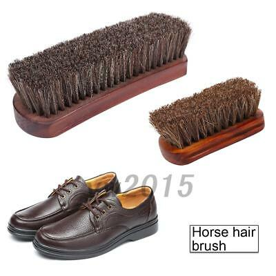 Pure Horsehair Brush/Shoe Boot Polish Shoes care Small/ Large Size