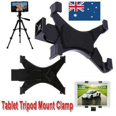 "Tablet Tripod Mount Clamp Holder 7"" to 9"" Universal For iPad 2/3/4 Air/Air2"