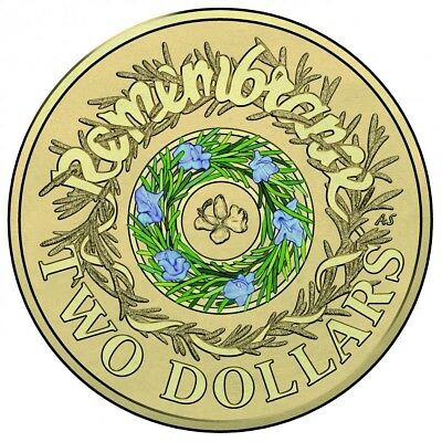 AUSTRALIAN 2017 Remembrance Day $2 Dollar Coin UNC