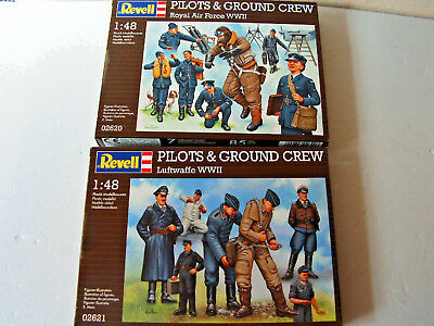 Pilots & Ground Crew, Royal Air Force + Luftwaffe, M 1:48 , Revell 02620 + 02621