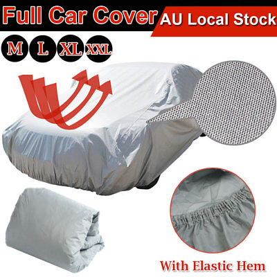 Universal Full Car Cover Outdoor Indoor Waterproof Weather Rain UV Bird Proof AU