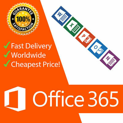 Microsoft Office 365 Home 1 Year Subscription for 5pc or Macs 5 Tablets