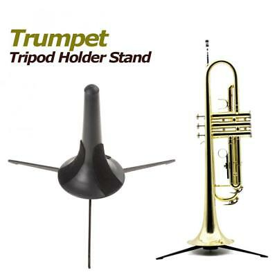 Portable Trumpet Tripod Holder Stand with Detachable & Foldable Metal Leg NEW