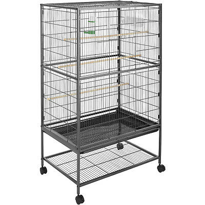 Large bird aviary cage on wheels parrot birds canary budgie birdcages 131x78x52