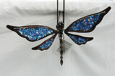 Hanging / Shelf Hanging Metal Sequinned Dragonfly - Blue - BNWT