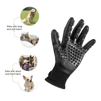 Glove Pet Hair Comb Dog Grooming Brush Massage Cat Bath Cleaning rubber Soft fur