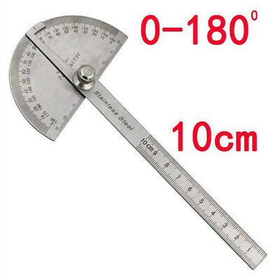 180 Degree Stainless Steel Protractor Angle Finder Arm Measuring Ruler Tool Kit