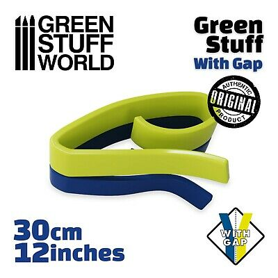 Green Stuff 12 inches (30 cm) with GAP - Kneadatite Blue Yellow Duro Warhammer