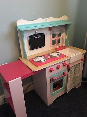 Play Kitchen Early Learning Centre Retro Blue Childrens Play Kitchen