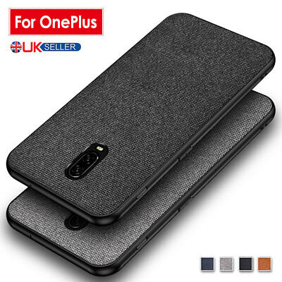 For OnePlus 7 6T Case Hybrid Fabric TPU Shockproof Case Slim Thin Silicone Cover
