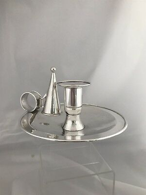 Large Silver Candlestick Or Chamber Stick 1973 London