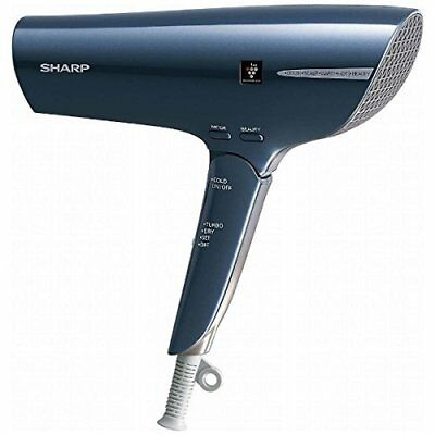 SHARP IB-HP9-A Abyss Blue Plasmacluster Hair Dryer Worldwide