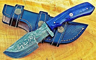 Damascus-Survival-Outdoor-Camping-Hunting-Knife-Fixed-Blade-W-Sheath-Full-Tang