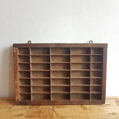 Vintage Wooden Printer's Tray