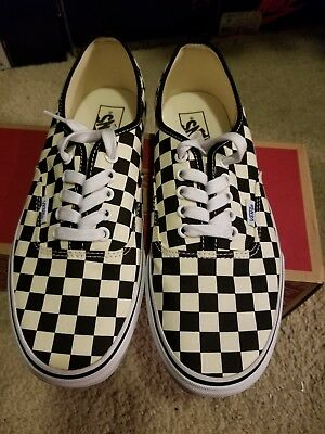 8ebb6a8cea0 Men s Vans Authentic Golden Coast Black White Checkerboard shoes size 9.5