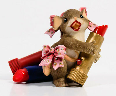 Charming Tails Kiss Me Valentine's Day Love Lipstick Mouse Fitz & Floyd 84/126 *