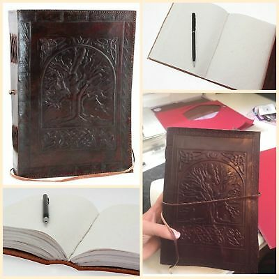 "Vintage Tree Of Life Leather Journal Notebook Men Women Diary 7"" x 10"" 240 Pages"