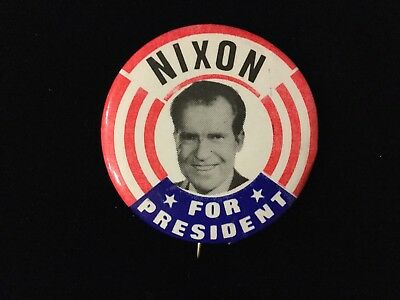 Nixon For President 1 3/4 Inch Button. Box 8