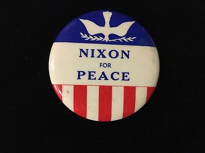 Nixon For Peace 1 3/4 Inch Button. Box 8