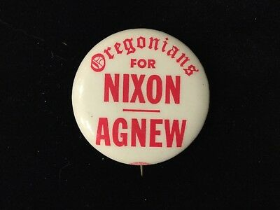 Oregonians For Nixon-Agnew 1 1/4 Inch Button. Box 8