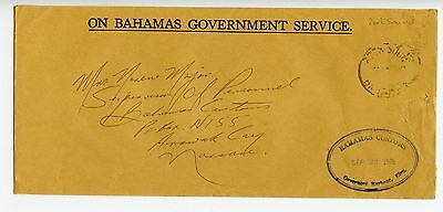 Bahamas cover used Rock Sound 1978 Governors Harbour Customs (N236)