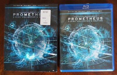 Prometheus Blu-Ray 3D and DVD (4-Disc Collector's Edition) w/ Slipcover