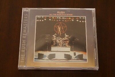 RUSH - All The World's A Stage (1976 Remastered CD) Geddy Lee, Neil Peart