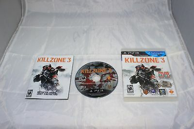 Killzone 3 PS3 Sony PlayStation 3 Complete CIB PERFECT DISC Fast Shipping World!