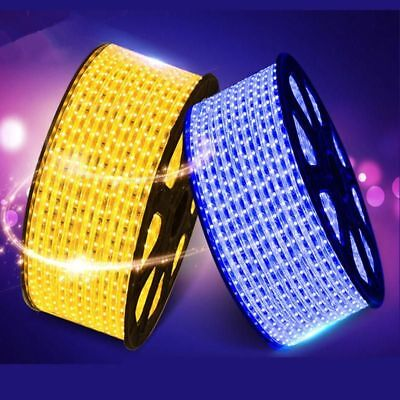 Waterproof SMD 5050 AC220V 1M 2M 3M 5M 10M 15M 25M LED Strip Light With EU/US