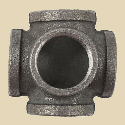 """1"""" 5WAY Side Outlet Elbow DEG 90°BLACK MALLEABLE IRON fitting pipe npt"""