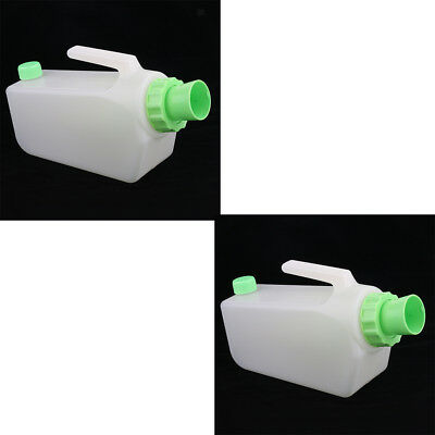 2x Incontinence Aid Male Pee Urinal Bottle Night Drainage Container Hospital